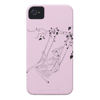 Deer on a swing - pink iPhone 4 cover