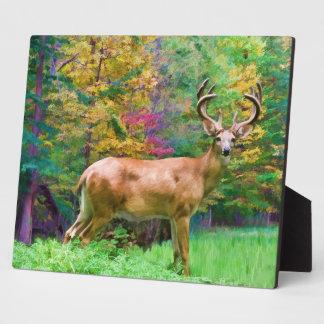 Deer on an Autumn Morning Plaque