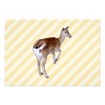 Deer, on Beige Stripes. Custom Invites