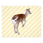 Deer, on Beige Stripes. Flyer
