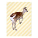 Deer, on Beige Stripes. Invitations