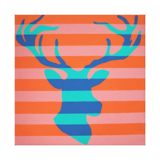 Deer on Canvas Canvas Print