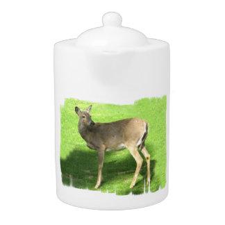 Deer on Grass Teapot (2) sizes