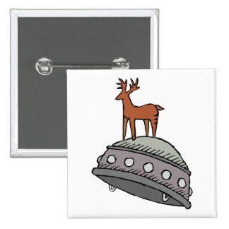 Deer on UFO Buttons