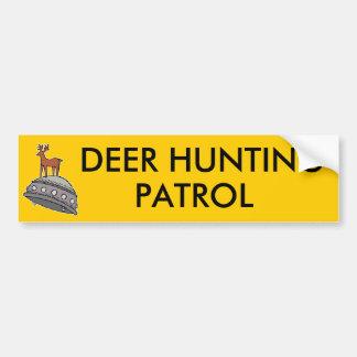 Deer on UFO Car Bumper Sticker