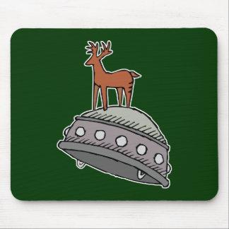 Deer on UFO Mouse Pad
