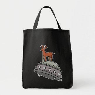 Deer on UFO Tote Bags