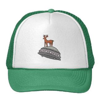 Deer on UFO Trucker Hat