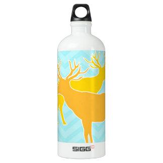 Deer on zigzag chevron - Pastel Blue SIGG Traveler 1.0L Water Bottle