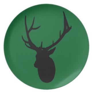 Deer or Buck Silhouette logo Plate