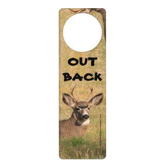 Deer Out Back door Hanger