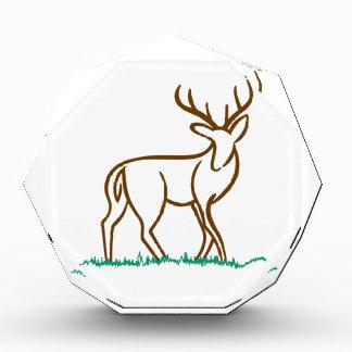 Deer Outline Acrylic Award