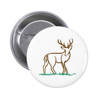 Deer Outline Button