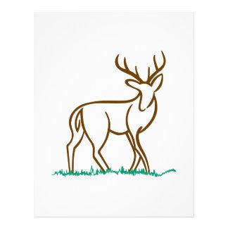 Deer Outline Letterhead