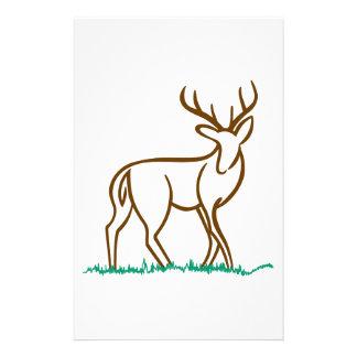 Deer Outline Stationery