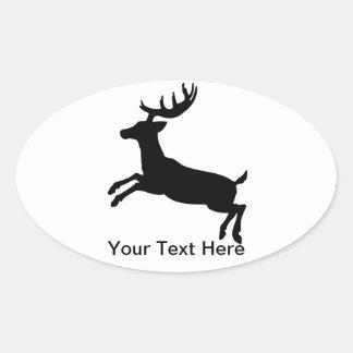 Deer Oval Sticker for Personalization