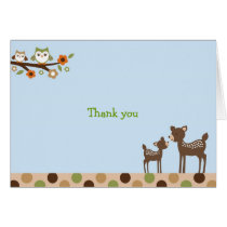 Deer Owl Forest Thank You Note Cards