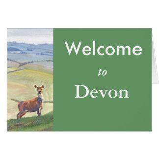Deer painting greeting card