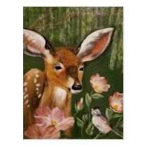 Deer Painting Postcard