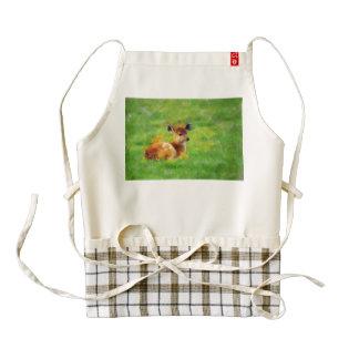 Deer painting zazzle HEART apron