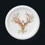 "Deer Paper Plates Baby shower Woodland Antlers<br><div class=""desc"">♥ A perfect addition to your party! Deer theme.</div>"