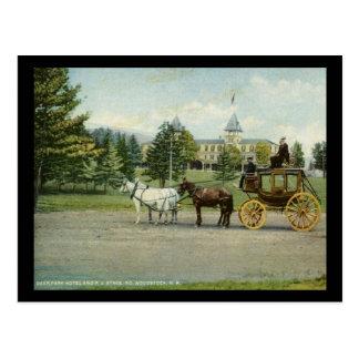 Deer Park Hotel and Stagecoach, Woodstock NH Vinta Postcard