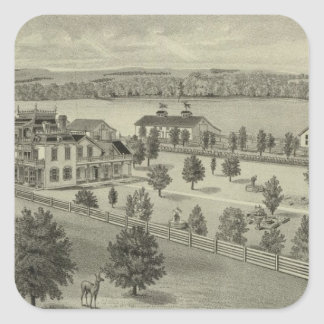 Deer Park Place Farm, Strong City, Kansas Square Sticker