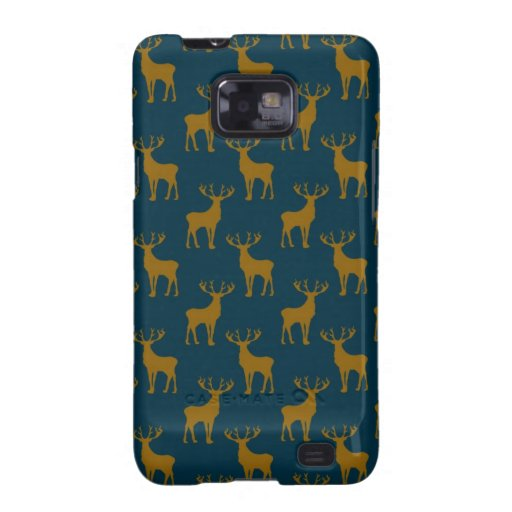 Deer Pattern Brown and Blue Galaxy S2 Covers