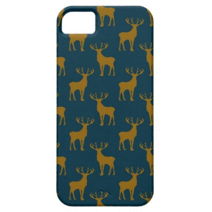 Deer Pattern Brown and Blue iPhone 5 Covers