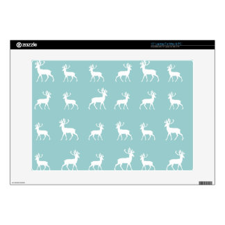 Deer pattern in Blue and White Laptop Skin