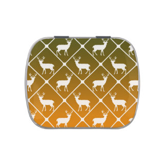 Deer pattern on gradient background jelly belly tins