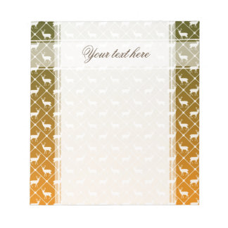 Deer pattern on gradient background notepad