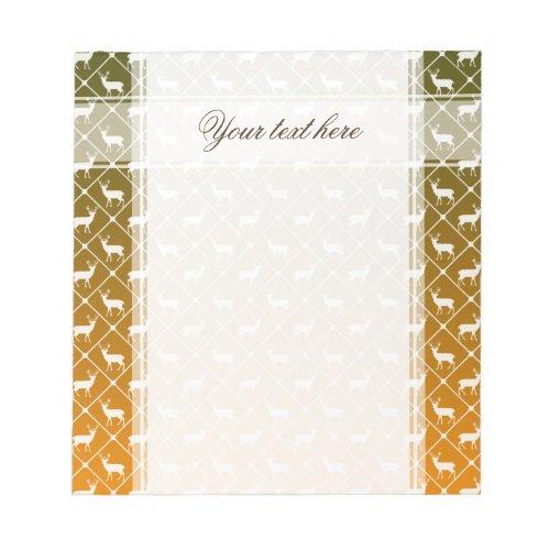 Deer pattern on gradient background notepad