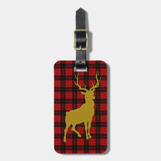Deer Plaid Luggage Tags