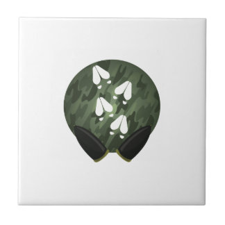 Deer Print Circle Tile