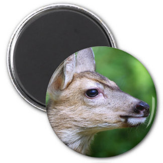 Deer - Profile of a Deer 2 Inch Round Magnet