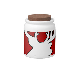 DEER RED BACKGROUND PRODUCTS CANDY JAR