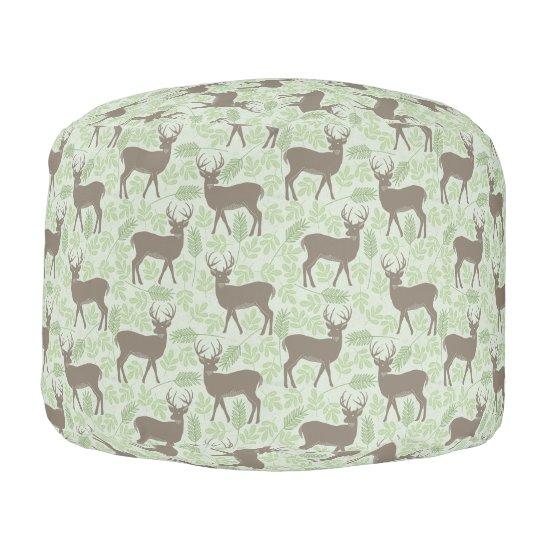 Deer/Reindeer Christmas Pouf - seat/footrest