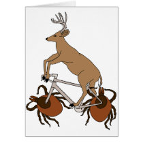 Deer Riding Bike With Deer Tick Wheels Card