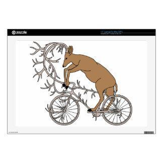 Deer Riding His Antler Bike Skin For Laptop