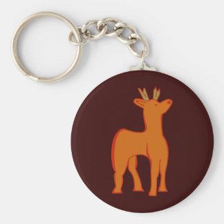 Deer roe more deer keychain