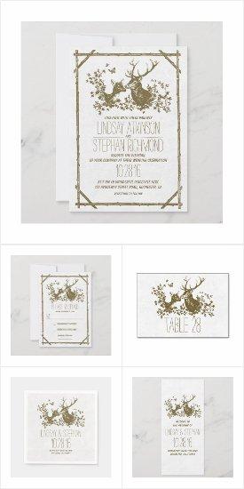 Deer Romantic Wedding Collection