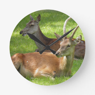 Deer Round Clock