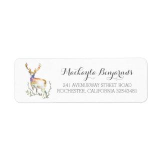 deer rustic wedding label