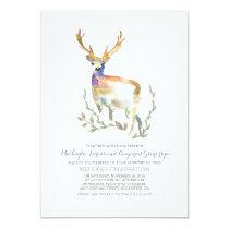 Deer Rustic Woodland Wedding Invitations