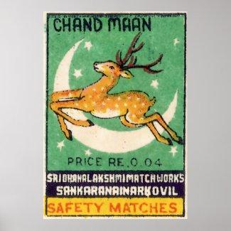 Deer Safety Match Label print