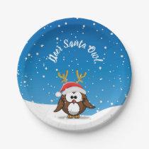 Deer Santa Owl Paper Plate