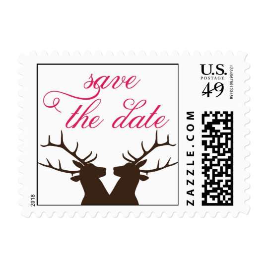 Deer Save the Date Postage