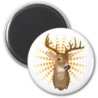 Deer season 2 inch round magnet