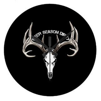 Deer Season Dirty wall clock